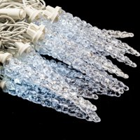 ALEKO Holiday Christmas Crystal Cluster Icicle Lights - 50 LED - 50 Foot - Clear