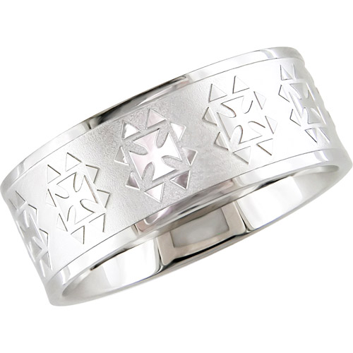 Engraved Ring in Stainless Steel