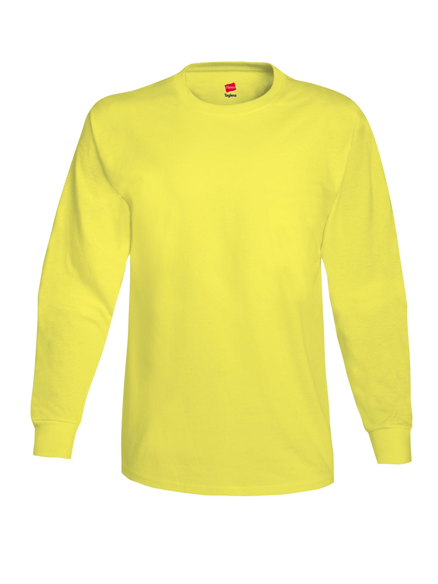 Hanes - Mens Tagless Cotton Crew Neck Long-Sleeve Tshirt - Walmart.com bb401e68bd4