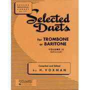 Rubank Educational Library: Selected Duets for Trombone or Baritone, Volume II (Advanced) (Other)