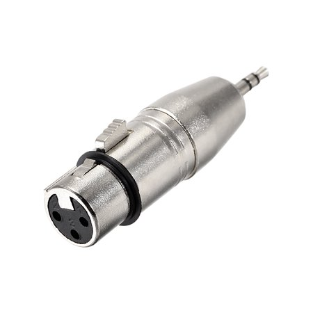 """XLR Female to 1/8"""" Male TRS Adapter,Gender Changer - XLR-F to 3.5mm Coupler Adapters,Microphone Plug In Audio Connector"""