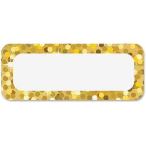 Ashley Gold Sparkle Magnetic Nameplate 1 Pack Gold Sparkle Design Rectangular Shape Write-on, Wipe-off,... by Ashley Productions