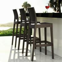 Compamia Jamaica Resin Wicker Barstool with Optional Cushion - Set of 2