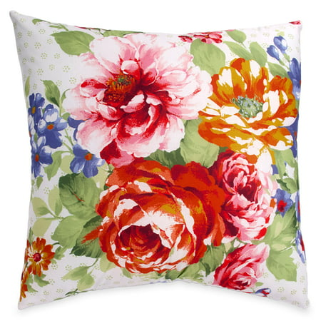 The Pioneer Woman Beautiful Bouquet Euro Sham Set, - Pintuck Euro Sham