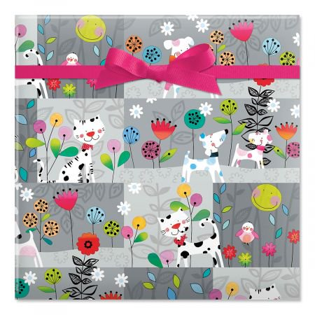 Dot Wrapping - Polka Dot Pets Jumbo Rolled Birthday Gift Wrap - 67 sq. ft. heavyweight, tear-resistant and peek-proof wrap, Kids Birthday wrapping paper, Party Gift Wrap