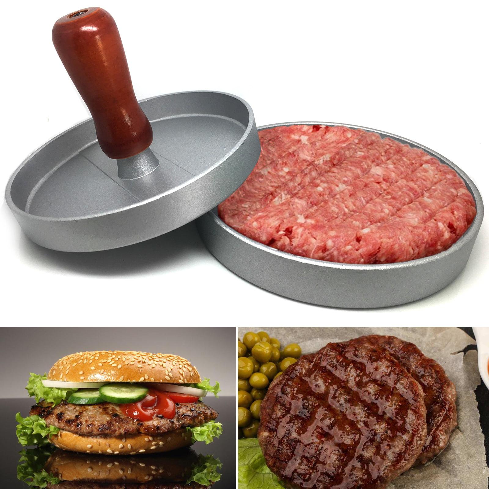 KitchenArt Adjustable Burger Patty Press Shaper Maker Hamburger Mold BBQ Metal