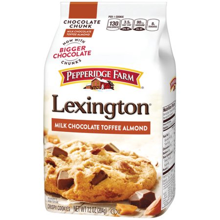 Pepperidge Farm Lexington Crispy Milk Chocolate Toffee Almond Cookies, 7.2 oz. Bag