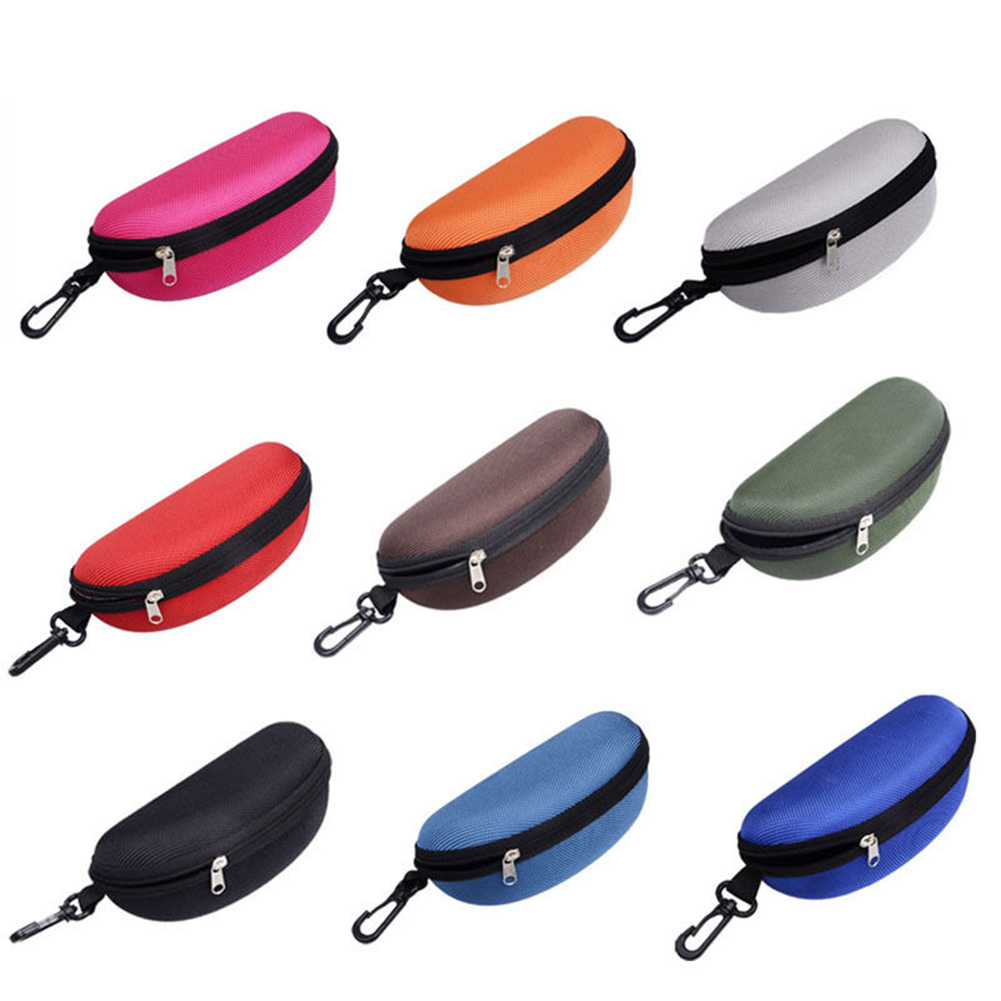 Heepo Fashion Portable Zipper Eye Glasses Clam Shell Sunglasses Protect Hard Case Box
