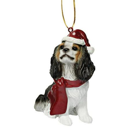 - Design Toscano Charles Cavalier Holiday Dog Ornament Sculpture