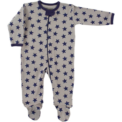 Luvable Friends Newborn Baby Boys Zipper Sleep N Play - Star