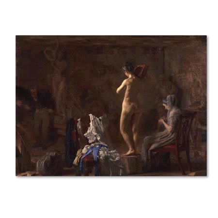 Trademark Fine Art 'William Rush Carving A Figure' Canvas Art by Thomas Eakins ()