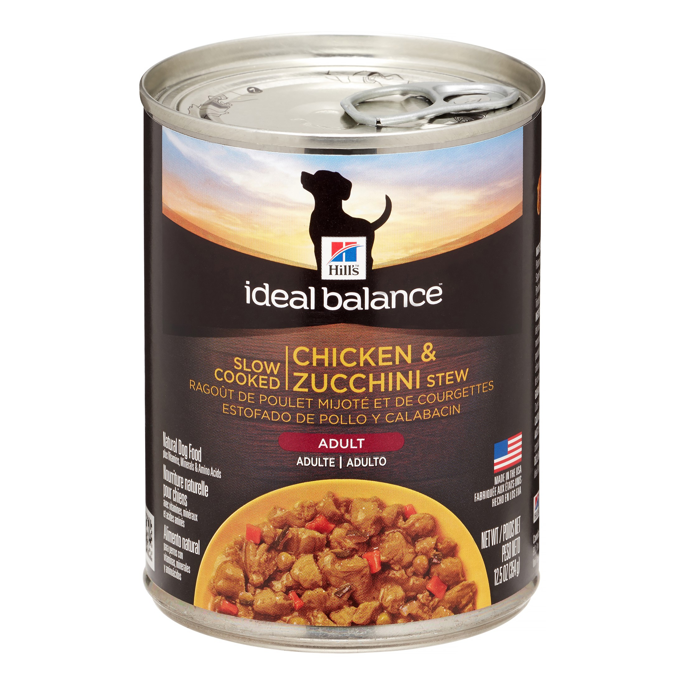 Hill's Ideal Balance (Spend $20, Get $5) Adult Slow Cooked Chicken & Zucchini Stew Wet Dog Food, 12.5 oz, 12-pack (See description for rebate details)