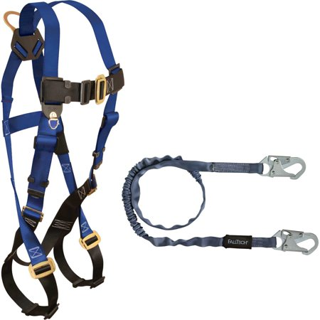FallTech 70158259, (1) 7015 Harness and (1) 8259 Shock Absorbing Lanyard, Lot of 1