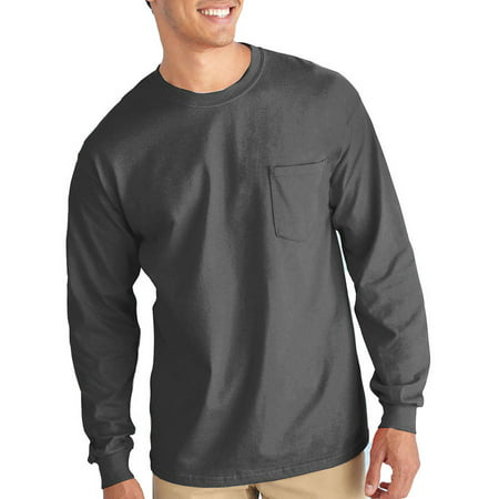 Pocket Sleeves (Big Mens Classic Long Sleeve Pocket T-Shirt,)