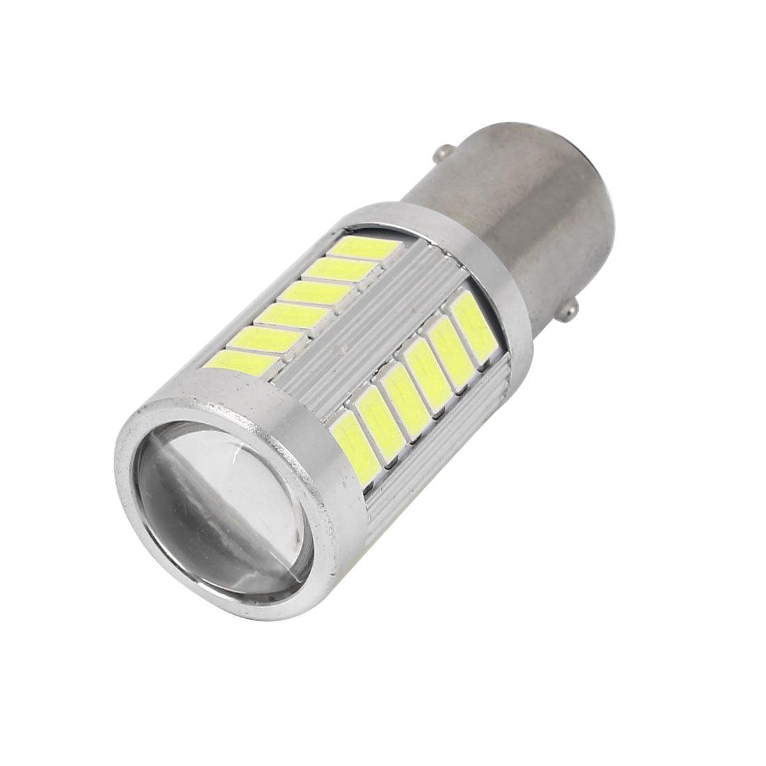 BAY15D 1157 5630 SMD 33 LED White Brake Tail Light w Projector Lens