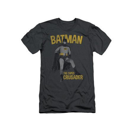 Batman Classic TV DC Comics Caped Crusader Adult Slim T-Shirt Tee (Batman Adult Cape)