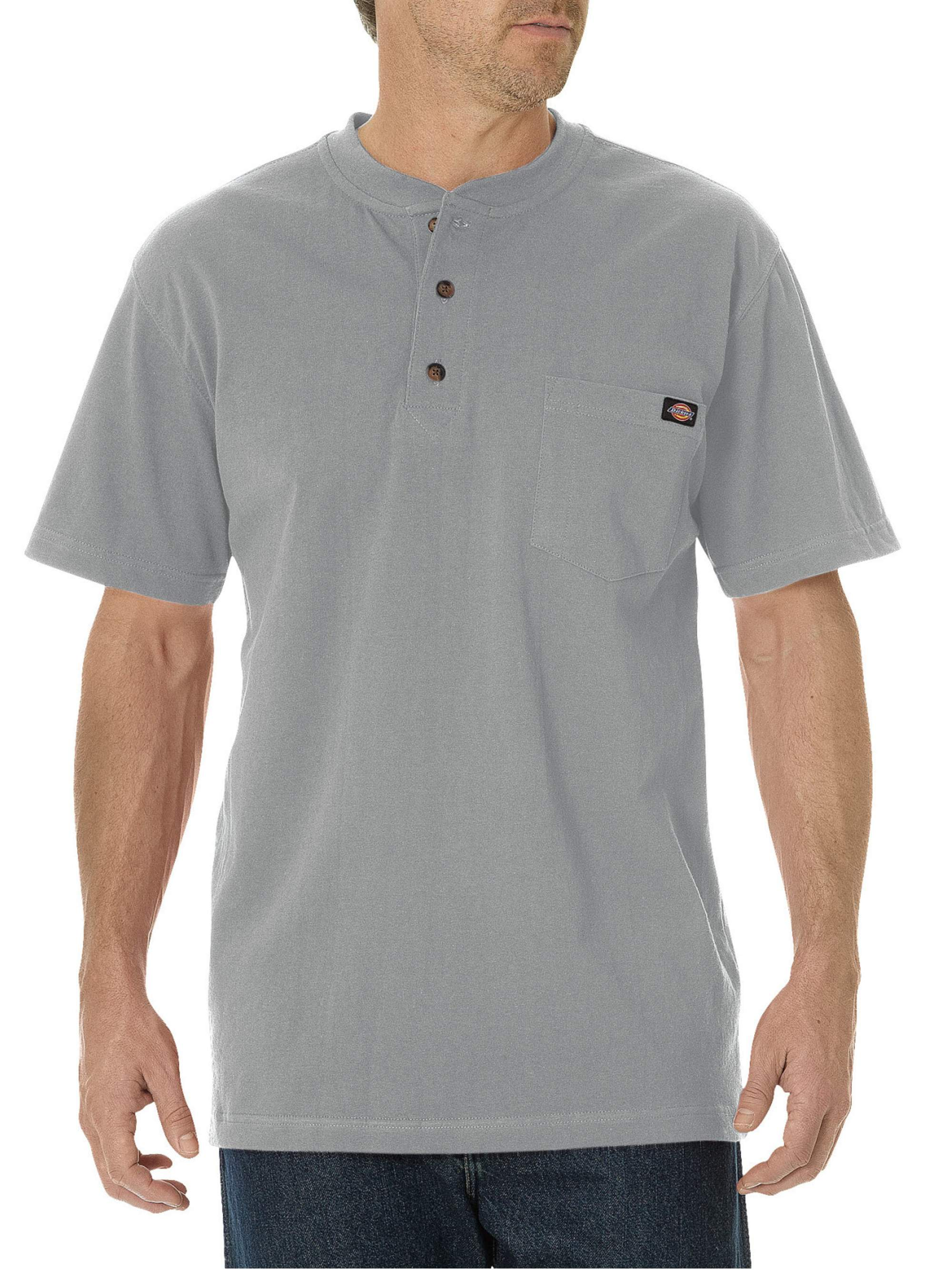 Big and Tall Men's Short Sleeve Heavyweight Henley