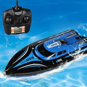 Virhuck H101 Rc Boat 2.4G 4CH Remote Control Boat Ship for Water With High Speed (Only Work In The Water)