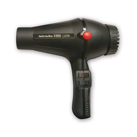 Twin Turbo LIGHTWEIGHT 1900 Watt Italian Hair Dryer with Multi Temperature/Speeds Control, True Cold Shot Button and Extra Long Power Cord