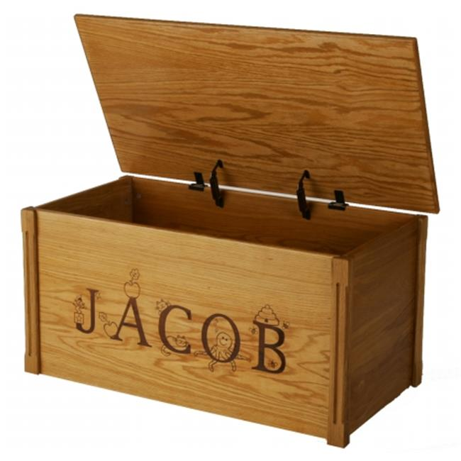 Wood Creations WTB-Thematic Oak Toybox with Thematic Letters