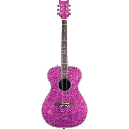 Daisy Rock Pixie Acoustic Electric Pink Sparkle