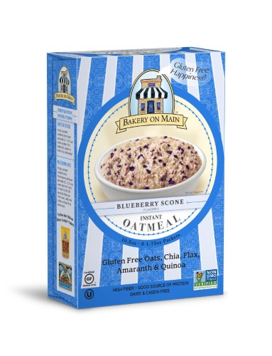 Bakery on Main Blue Berry Scone Flavored Instant Oatmeal, 1.75 OZ by Bakery On Main
