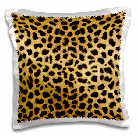 3dRose Cheetah Animal Print, Pillow Case, 16 by 16-inch](Chetta Print)