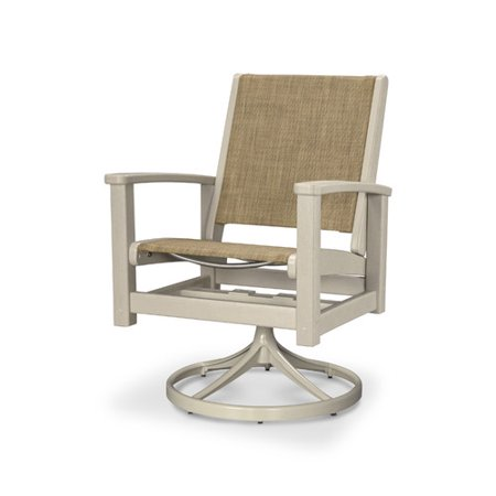 Surprising Polywood Coastal Swivel Patio Dining Chair Dailytribune Chair Design For Home Dailytribuneorg