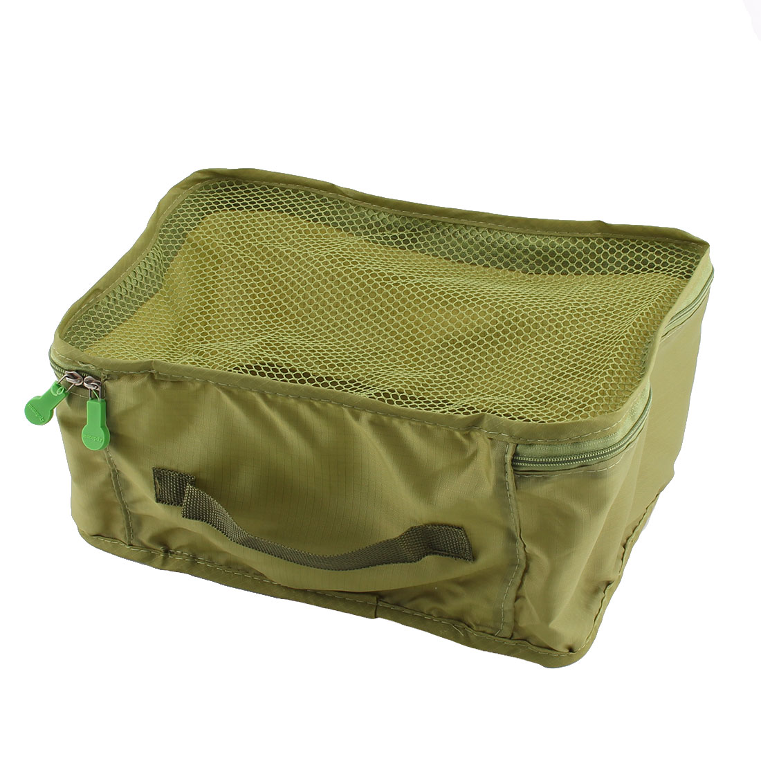 Travel Admission Foldable Zipper Closure Package Pouch Mesh Bag Frost Green - image 5 de 5