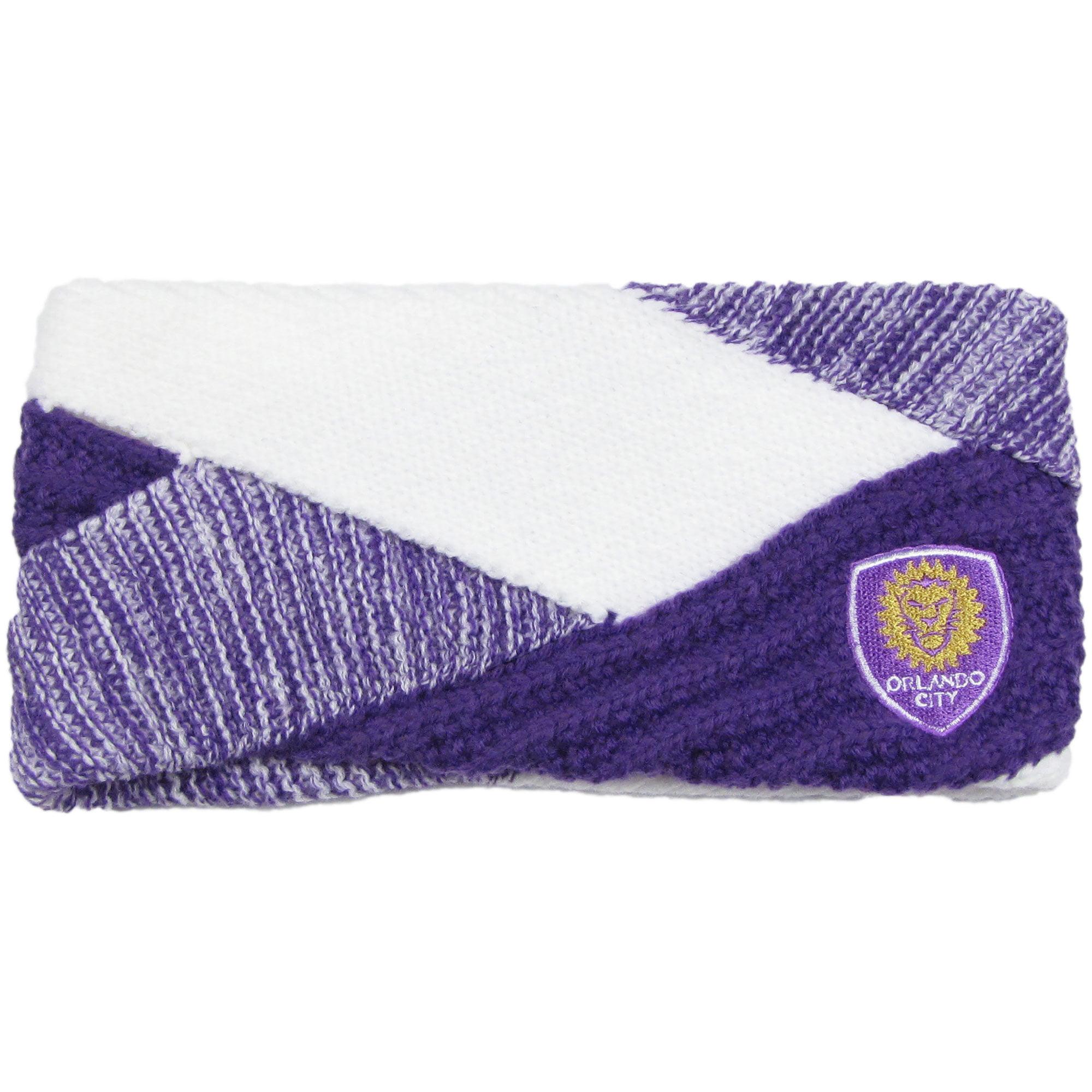 Orlando City SC ZooZatz Women's Criss Cross Headband - Purple/White - No Size