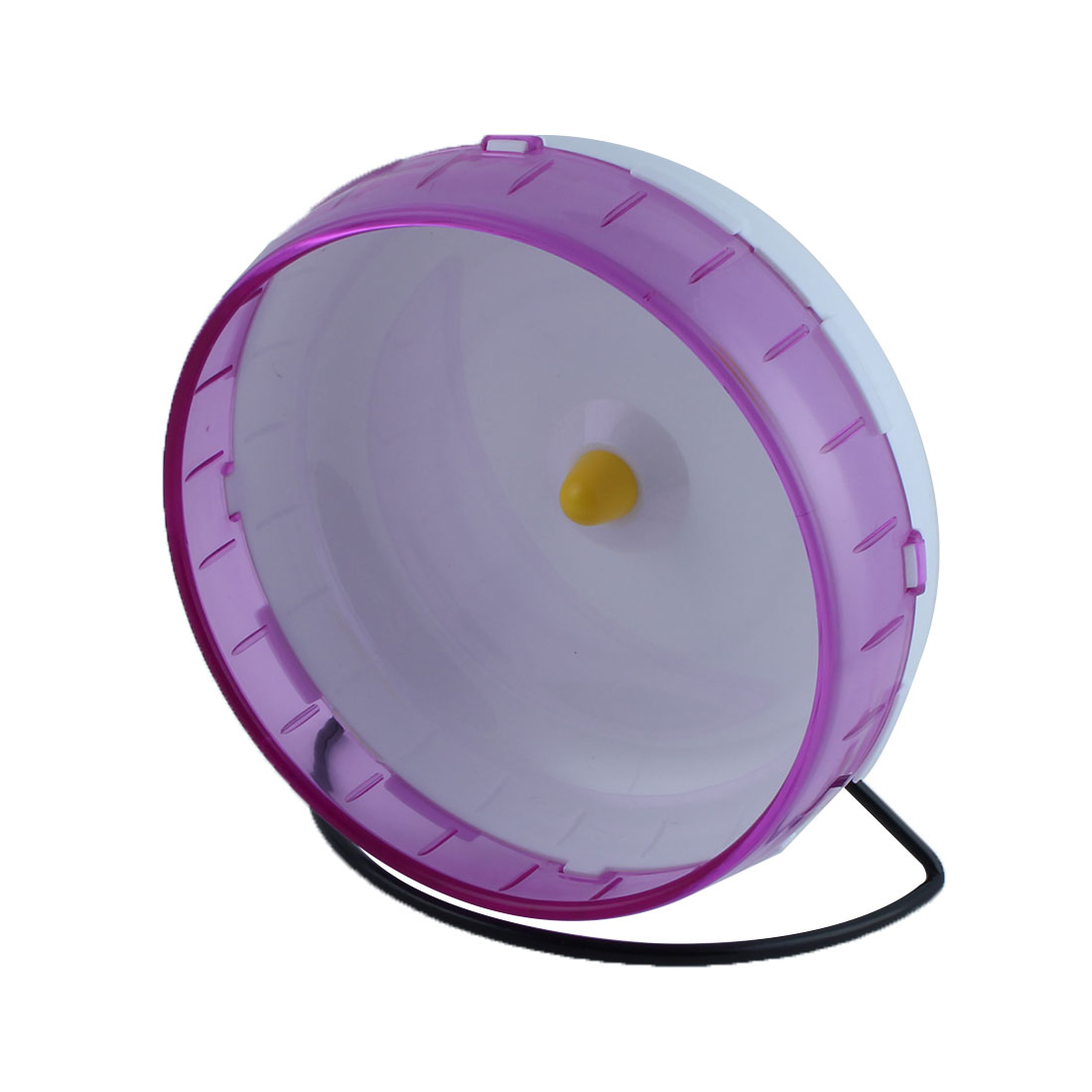 Unique Bargains Pet Hamster Gerbil Plastic Exercise Play Stand Wheel Toy Holder Purple 21cm Dia