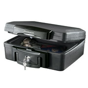 SentrySafe H0100 Fire-Resistant Box and Waterproof Box with Key Lock 0.17 cu ft