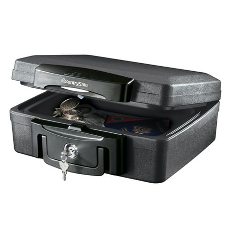 SentrySafe H0100 Fire-Resistant Box and Waterproof Box with Key Lock 0.17 cu ft Break Glass Money Box