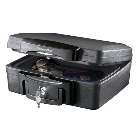 Durable Key Box (SentrySafe H0100 Fire-Resistant Box and Waterproof Box with Key Lock 0.17 cu)