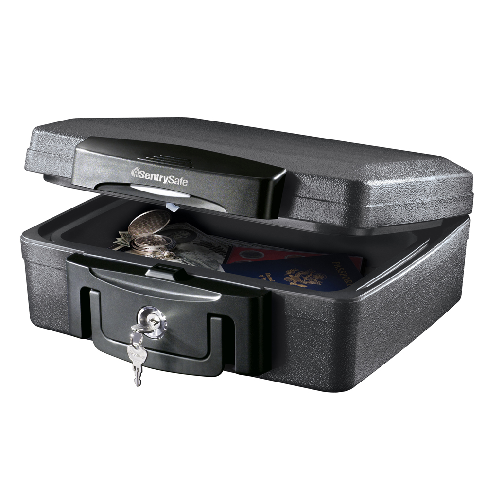 SentrySafe H0100 Fireproof Box and Waterproof Box with Key Lock 0.17 cu ft