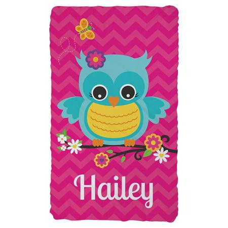 Personalized Sweet Owl Plush Fleece Blanket Walmart Com