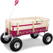John Deere Steel Stake Wagon Kids Steel & Wood Wagon Pink