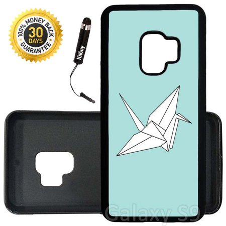 Custom Galaxy S9 Case (Origami Crane) Edge-to-Edge Rubber Black Cover Ultra Slim   Lightweight   Includes Stylus Pen by Innosub