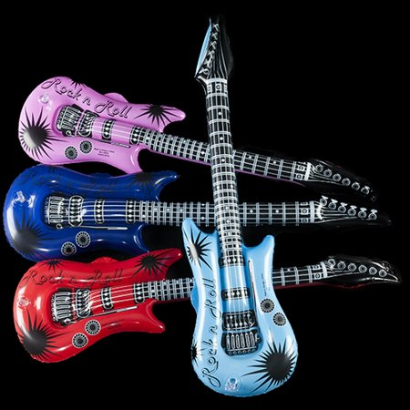 Inflatable Rock Guitars - 12 per - Guitar Novelties