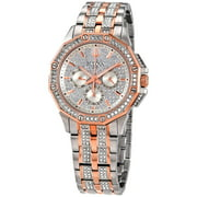 Bulova Octava Silver Crystal Pave Dial Men's Watch 98C133