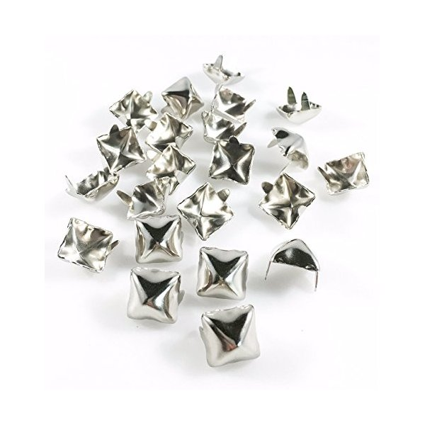 Spots Premium Quality Brass Nailheads Studs Nailheads Silver Star Studs 100 pcs 60ss Star Nailheads Nickel