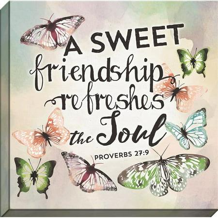 Carpentree Scripture Garden \'A Sweet Friendship\' Graphic Art ...
