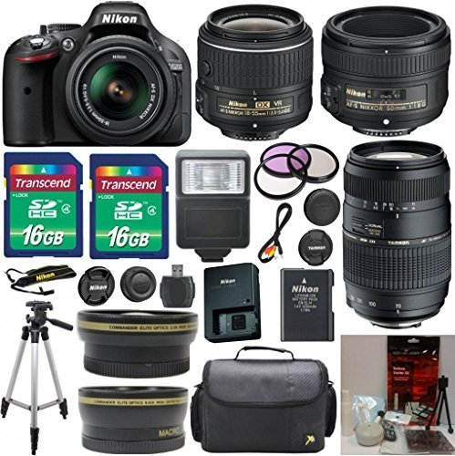 Nikon D5200 24.1 MP CMOS Digital SLR with 18-55mm f/3.5-5...