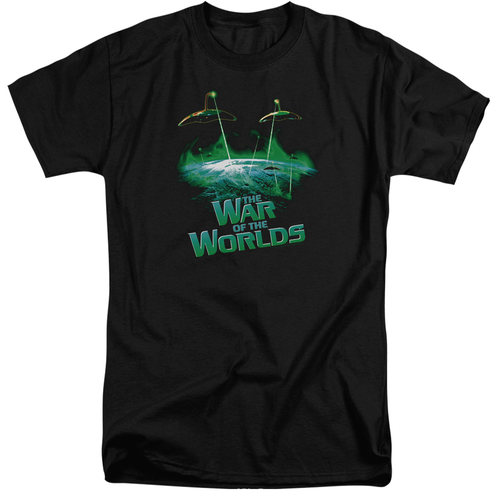 War of the Worlds Global Attack Mens Big and Tall Shirt