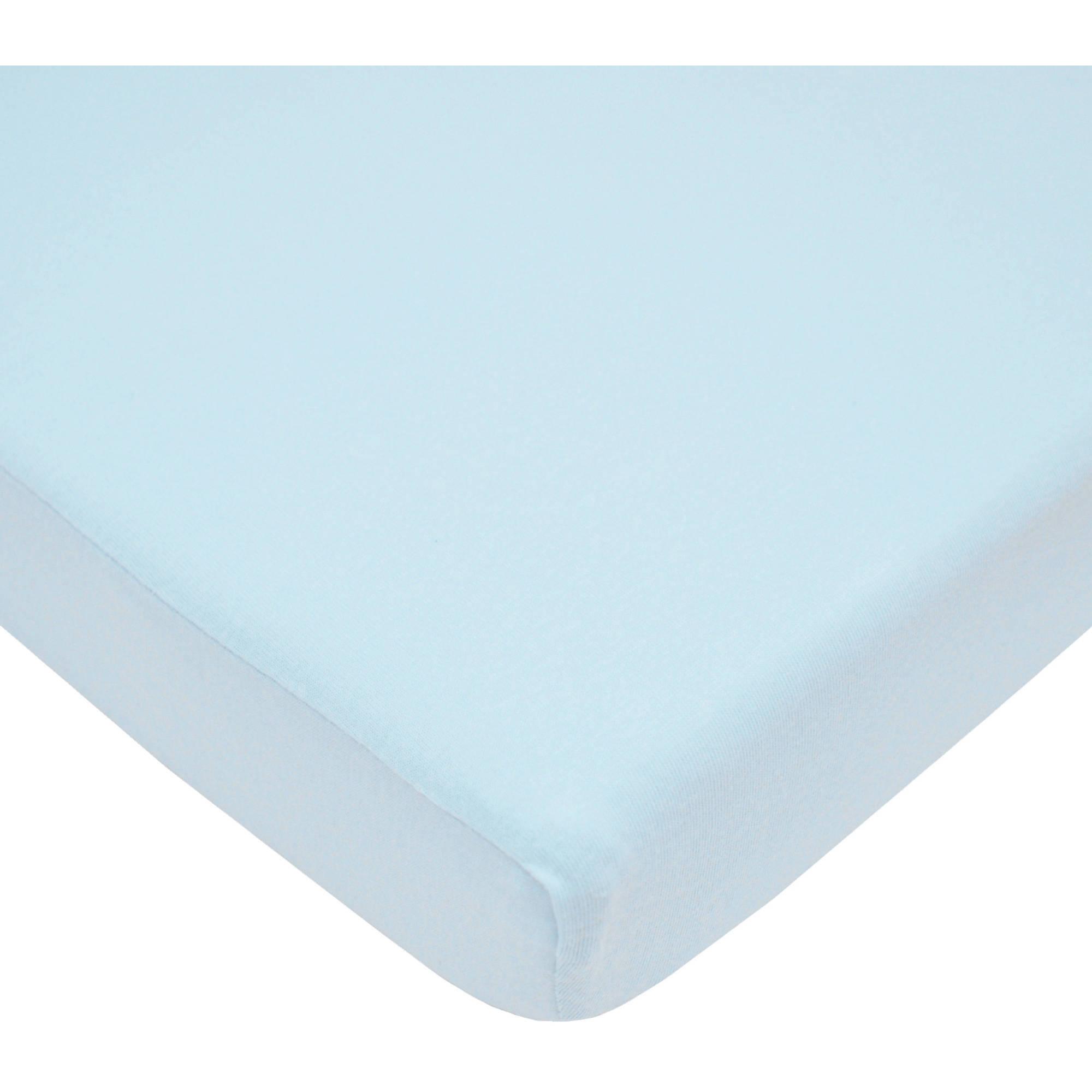 TL Care 100 Percent Cotton Jersey Knit Mini Crib Sheet, Blue