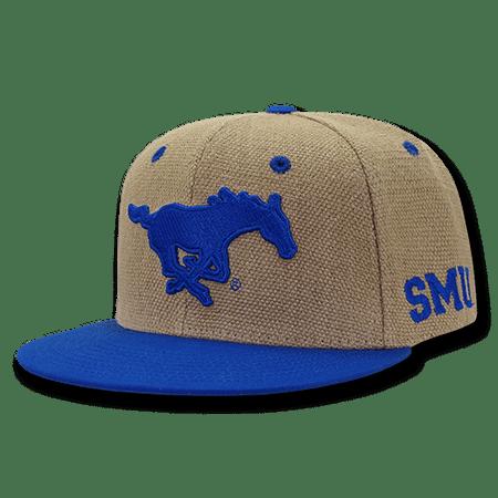 NCAA SMU Southern Methodist University Heavy Jute Snapback Caps Hats Royal ()