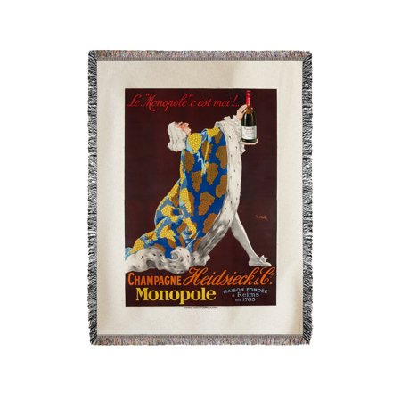 Champagne Heidsieck Vintage Poster (artist: Stall) France (60x80 Woven Chenille Yarn