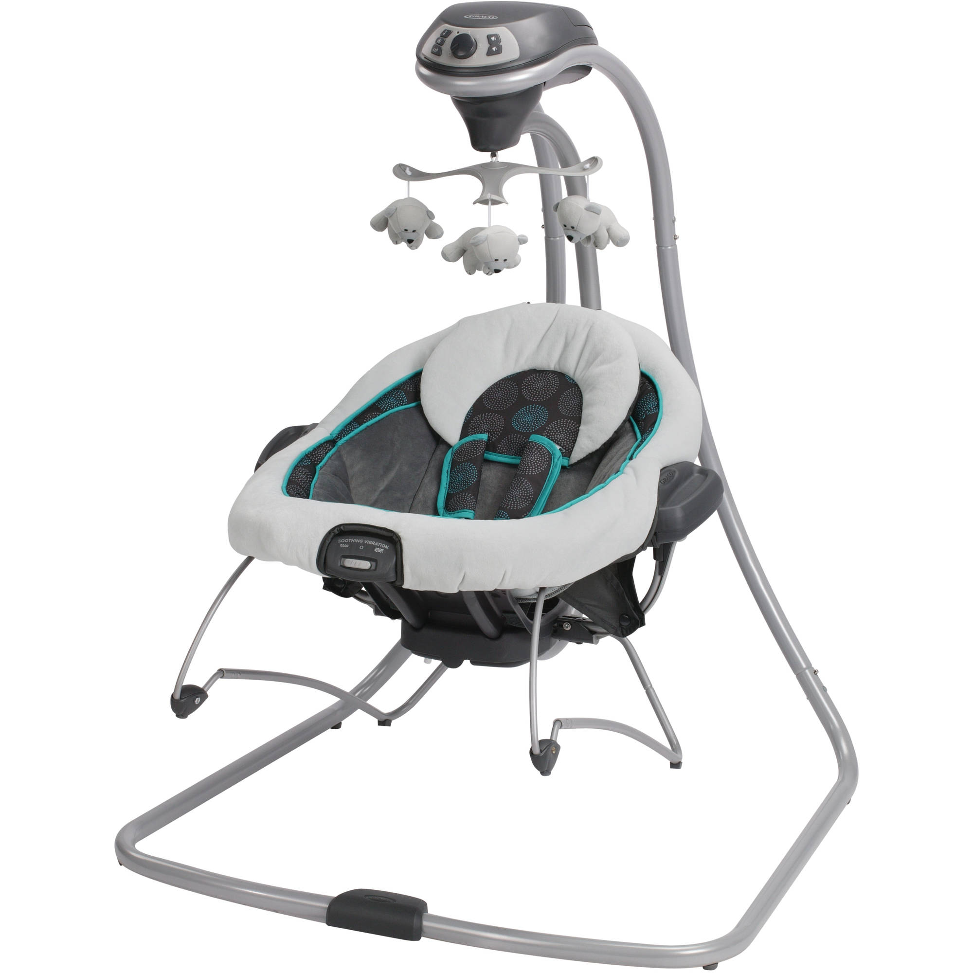 sc 1 st  Walmart & Graco DuetConnect Baby Swing and Bouncer Bristol - Walmart.com