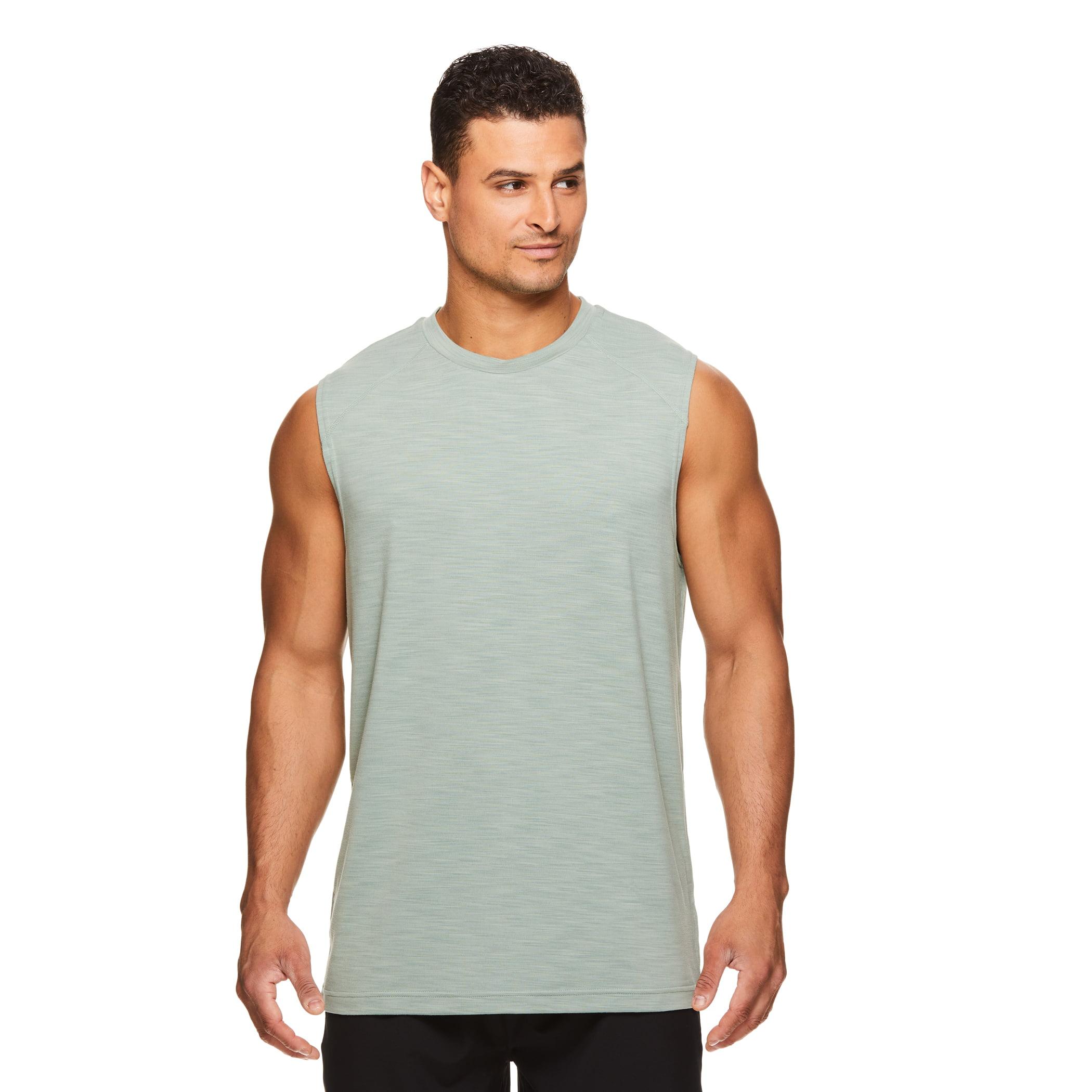 Gaiam Mens Everyday Basic Muscle Tank Top Sleeveless Yoga /& Workout Shirt