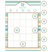 Baby Shower 'Tiny Toes Blue' Bingo Party Game (1ct)